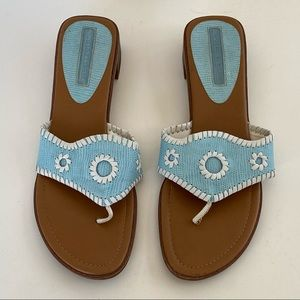 Montego Bay Club Blue Woven Thong Sandals
